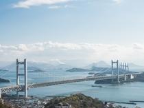 ★1階・ロビーテラスから見た瀬戸大橋