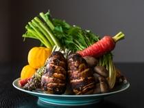 ★岡山県産の新鮮野菜をふんだんに使い