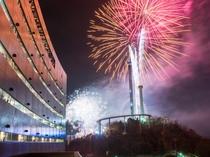 ★毎年、お盆期間と大晦日には隣接する「鷲羽山ハイランド」の花火がホテルからご覧いただけます。