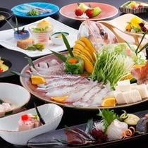 料理長こだわりの鯛を使った桜鯛づくし会席
