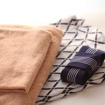 お部屋のバスタオルと浴衣