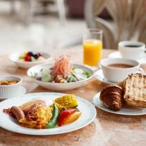 【朝食】盛り付け例(洋食)