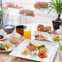 【朝食】盛り付け例