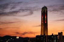 ゆめタワーの夕焼け