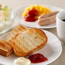 朝食は洋食にしょうかな?