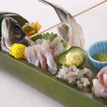 【食事】夕食:岩魚のお造り