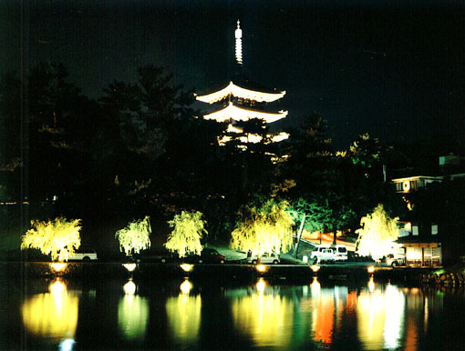 五重塔・猿沢池