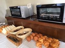 (朝食)ご飯・パンは食べ放題