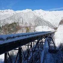 冬の北アルプス大橋