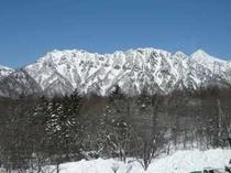 レストランからの冬の戸隠山(1)