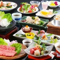 ≪お料理一例≫京都産コシヒカリや丹波牛など地元の食材を使った四季折々のメニューをご堪能下さい。