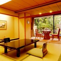 ≪スタンダード和室一例≫畳に足を伸ばしてゆったりお寛ぎくださいませ。
