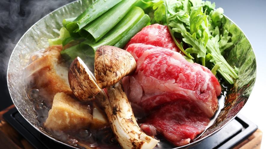 松茸のすき焼き小鍋/例