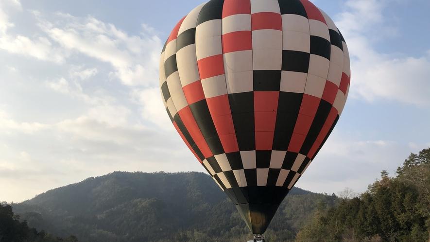 湯の花気球体験/例