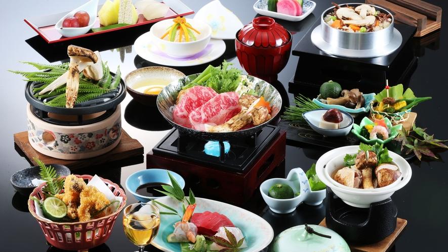 5種の松茸料理が味わえる特選松茸会席