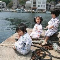 観光(子供釣り)