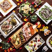 レストラン「Quomo」のパーティー料理