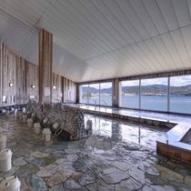*【2階大浴場】湯船からは奥浜名湖を一望!景観を御堪能ください♪