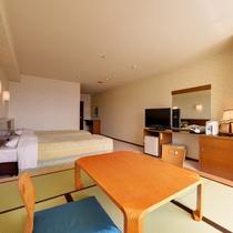 *【クラッセ棟・和洋室一例】小上がり6畳タイプの和洋室◇和室と洋室の良いとこ取りで快適なステイを♪