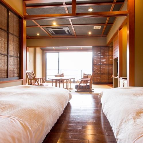 【ベッド側2】半露天風呂付悠々庵(500×500)