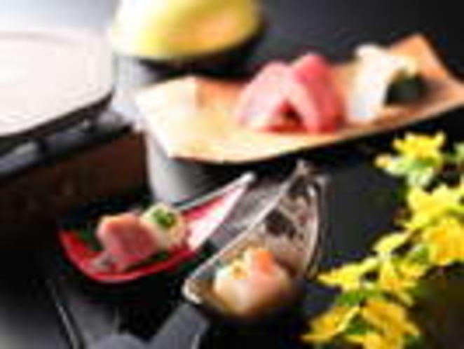 百合根豆腐・合鴨味噌漬け(酒菜一例)