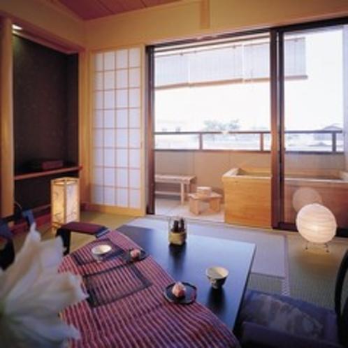 露天風呂付客室 (全室禁煙になります。)