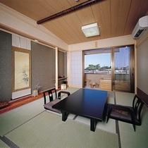客室一例。露天風呂付の客室。
