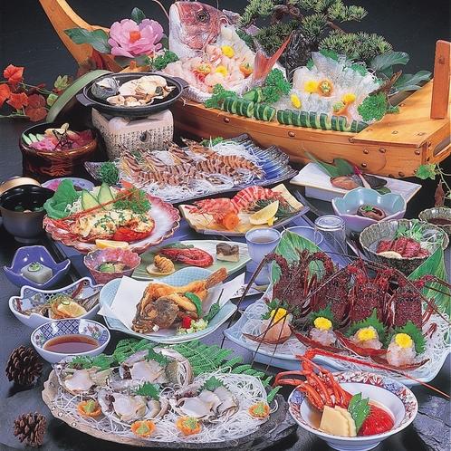 お料理一例。伊勢海老、お一人様に付、二匹付。