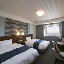 海側ツインスタンダードルーム(21平米・ベッド幅120cm×2台)