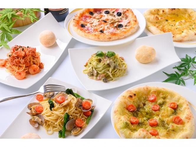 1Fレストラン「ル・ベール」は朝食のほか、ピッツァランチをご提供いたしております。