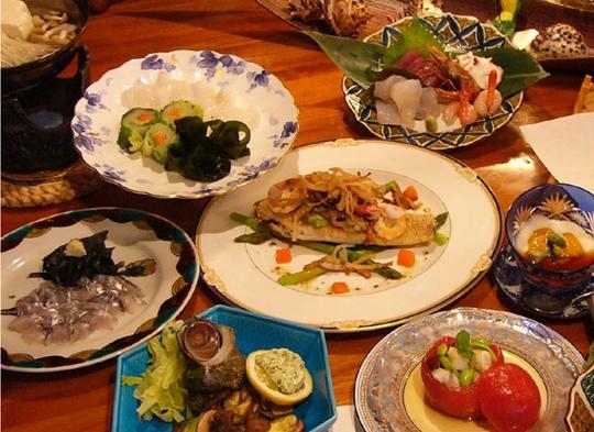 旨い魚と加賀野菜で作る、オーナー特製自慢の海鮮コース!