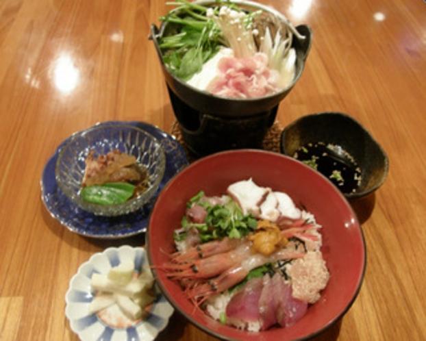海鮮丼&豚鍋