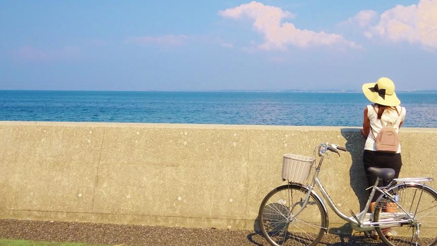 海辺のサイクリングロード