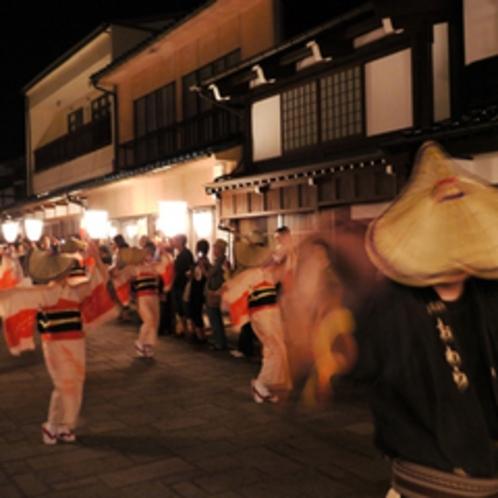 おわら風の盆前夜祭(町並夜)