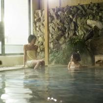 【露天風呂イメージ】大山で憩いのひとときを(タオルは撮影の為着用)