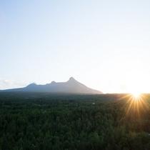 【夕景】夕日が沈む駒ヶ岳