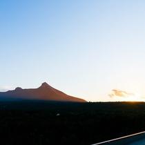 【景観】夕景の駒ヶ岳
