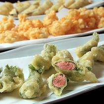 【夕食】たらこの大葉巻天ぷら