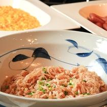 【朝食】郷土料理「たらこの子和え」