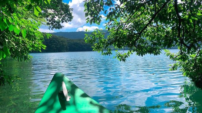 【バイキング】透明度の高い青木湖でボヤージャーカヌーツアー!《夕食は19:30〜》