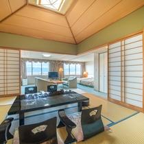 [スイートルーム]最上階70平米の寛ぎのお部屋です。
