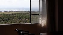 客室(眺望の一例)南向きの窓からは日本海*