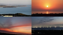 [施設]屋上からの眺め(日本海に沈む夕日、水平線に灯る漁り火など)*