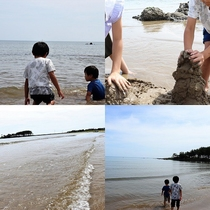夏+能登=海!(安部屋海岸、ホテルから約3キロ)