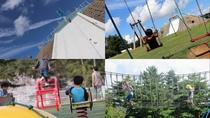 [観光]いこいの村能登半島(ホテルから約1キロ)遊園地の中心にはピラミッド型の遊具*