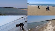 [観光]柴垣海岸・長手島(車で約16分)千里浜同様の砂質で、車の乗り入れも可能*