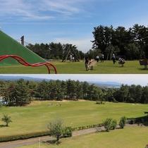 【いこいの村能登半島】広大な緑の敷地にはグラウンドゴルフ場もあり、自然の中で思いっきり遊びましょう。