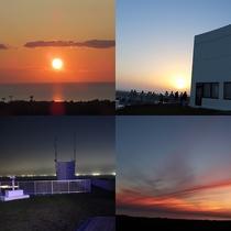 5~7月の屋上からの景色(夕陽・漁り火)