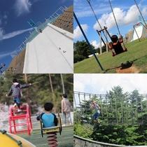 【いこいの村能登半島】遊園地の中心にはピラミッド型の遊具があり、大人も童心に帰って楽しみましょう。