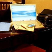 【客室イメージ】全室Wi-Fi無料接続サービス利用可能、静かな環境でお仕事もはかどります